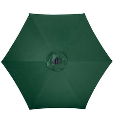 Living Accents Solar LED 9 ft. Tiltable Hunter Green Market Umbrella