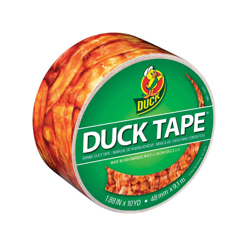 Duck  1.88 in. W x 10 yd. L Multicolored  Bacon  Duct Tape
