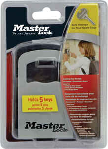 Master Lock  5-7/32 in. H x 1-11/16 in. W x 3-1/4 in. L 4-Digit Combination  Locked Key Storage  1 e