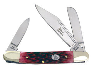 Frost Cutlery  Wrangler  Red  Stainless Steel  4 in. Pocket Knife