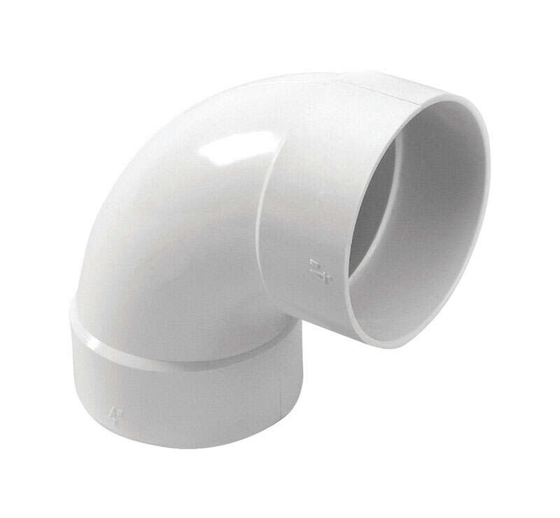 NDS  Schedule 35  4 in. Hub   x 4 in. Dia. Hub  PVC  90 Degree Elbow