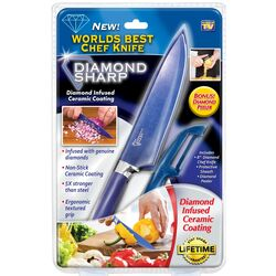 Diamond Sharp Knife and Peeler Set Stainless Steel 2 pk
