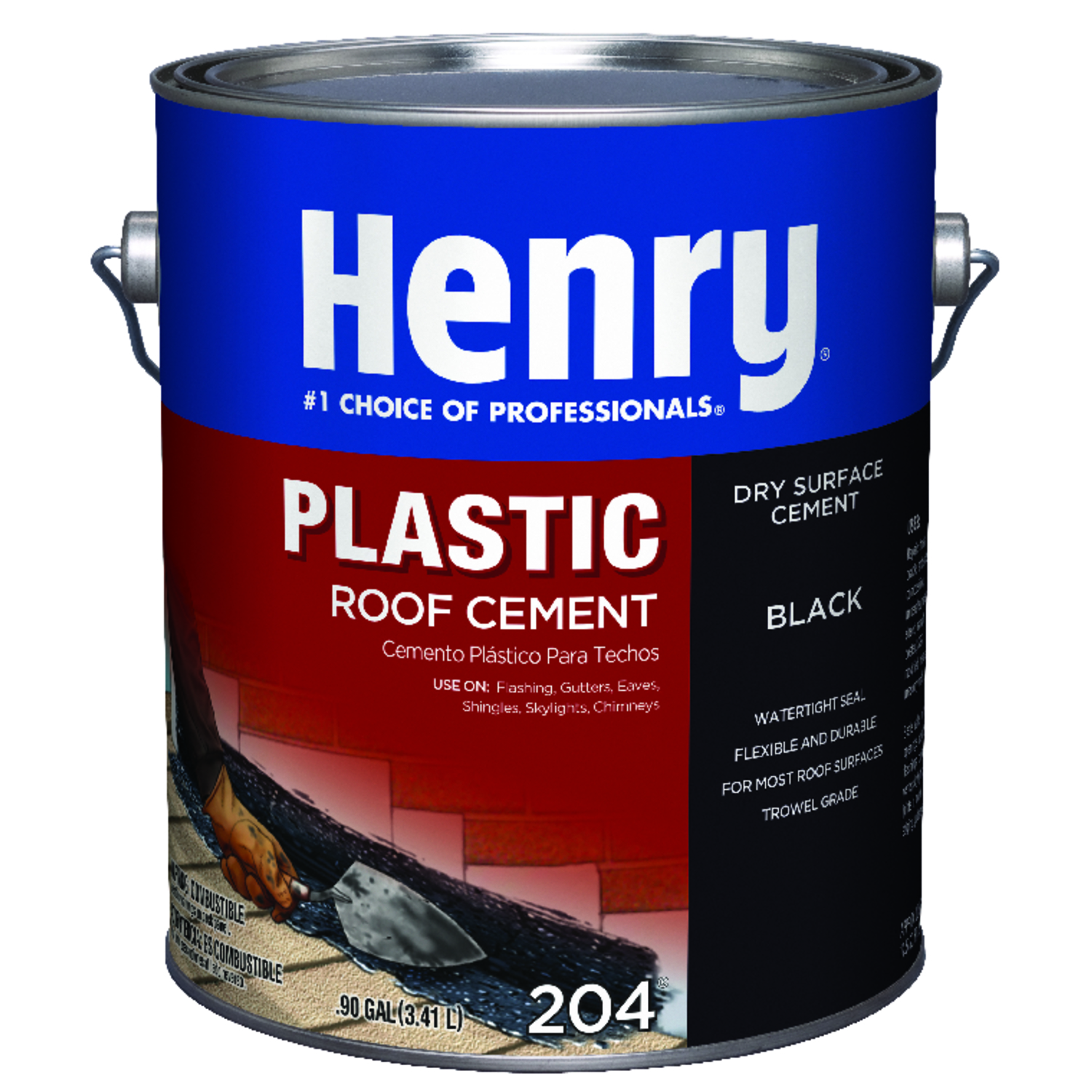 Henry  Smooth  Black  Dry Patch  Plastic Roof Cement  0.9 gal.