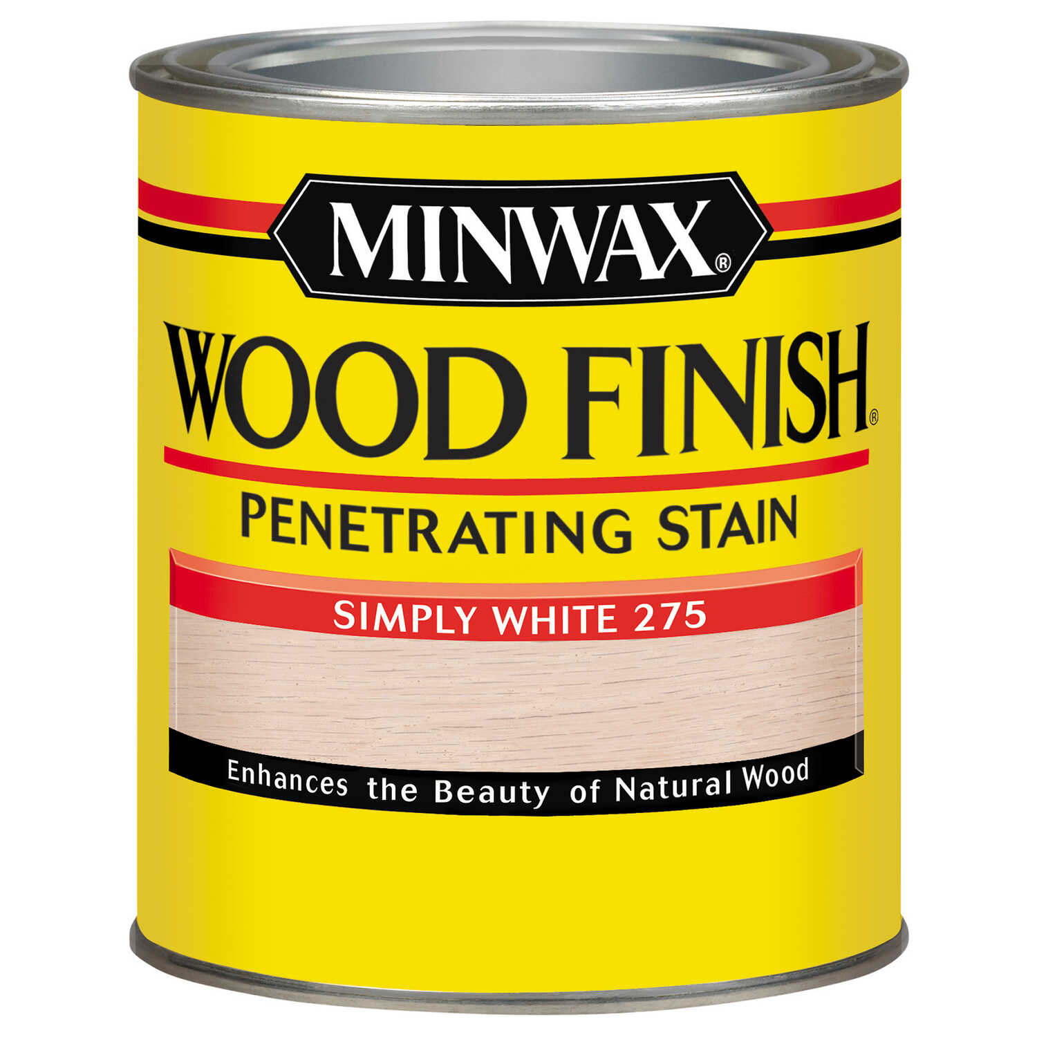 Minwax  Wood Finish  Semi-Transparent  Simply White  Oil-Based  Wood Stain  1 qt.