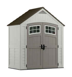 Suncast  Cascade  100 in. H x 80 1/2 in. W x 42 3/4 in. D Vanilla  Resin  Storage Shed