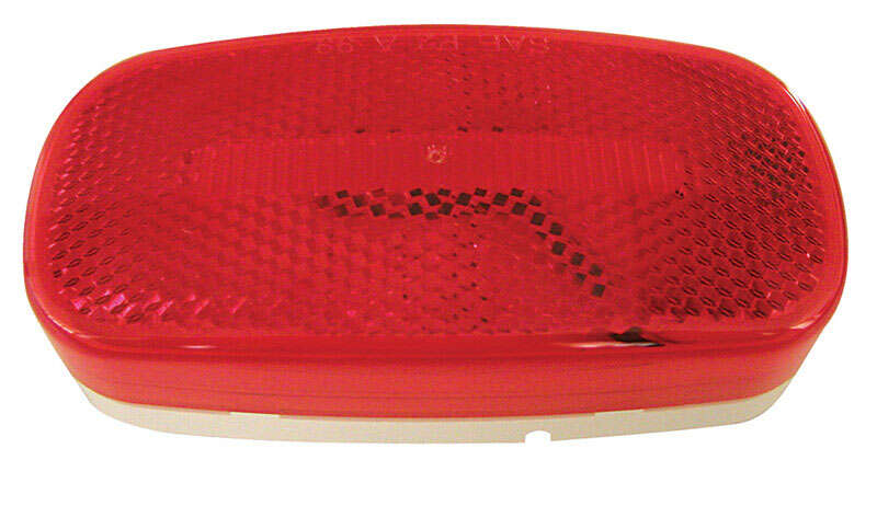 Peterson  Piranha  Red  Oval  Clearance/Side Marker  LED Light