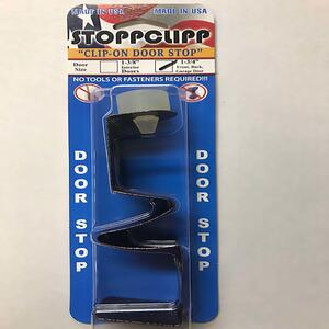 STOPPCLIPP  6 in. H x 3 in. W x 3 in. L Steel  Bronze  Door Stop  Mounts to door