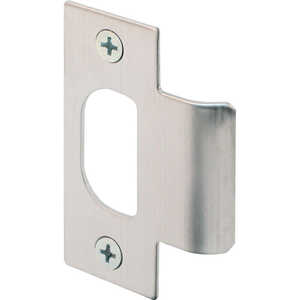 Prime-Line T Strike For Schlage Brushed Stainless Steel 3/4 in. Stainless Steel Used With Most Grade