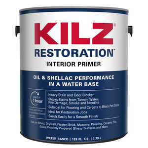 Kilz  Max  Flat  White  Water-Based  Primer and Sealer  For All Surfaces 1 gal.