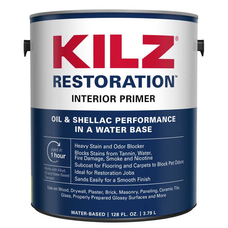 Kilz Max White Water Based Primer And Sealer 1 Gal For Brick