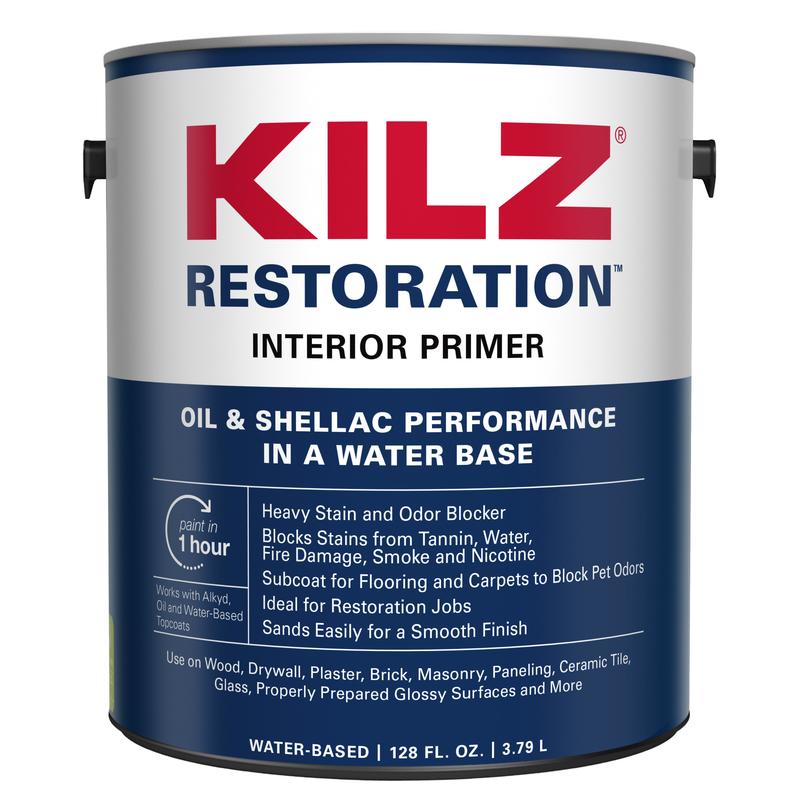 Kilz Max White Water Based Primer And Sealer 1 Gal. For Brick, Ceramic