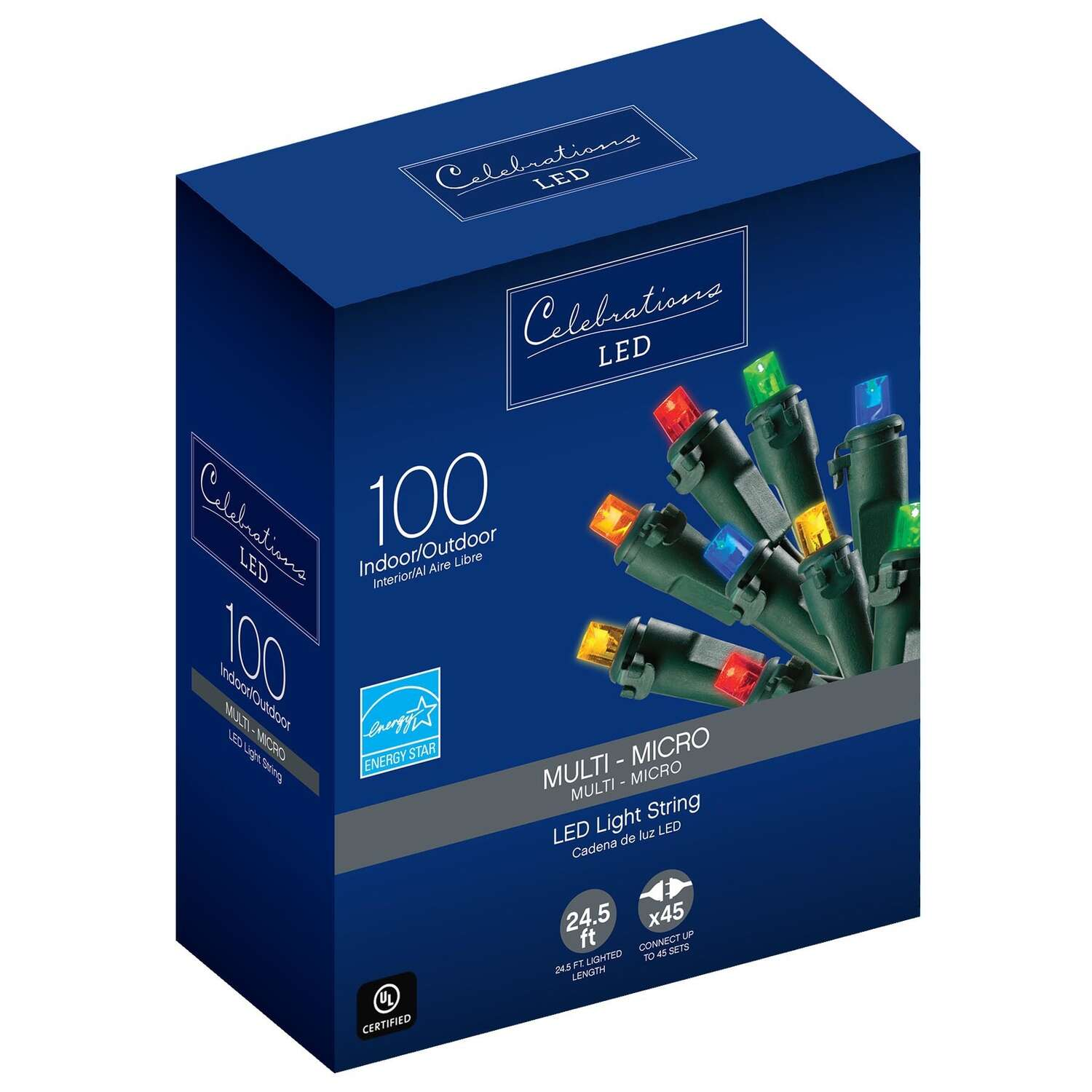 Celebrations  LED  Multi-color  100 count String  Christmas Lights  24.75 ft.
