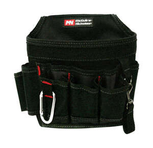 McGuire Nicholas  8 in. W x 8 in. H Polyester  Tool Pouch  7 pocket Black  1 pc.