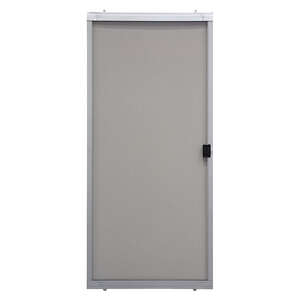 Superior  Breezeway Series  80-3/4 in. H x 36 in. W Gray  Steel  Adjustable Sliding Screen Door  Bre