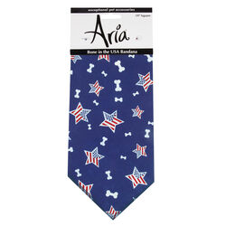 Aria Blue Bone In The USA Bandana