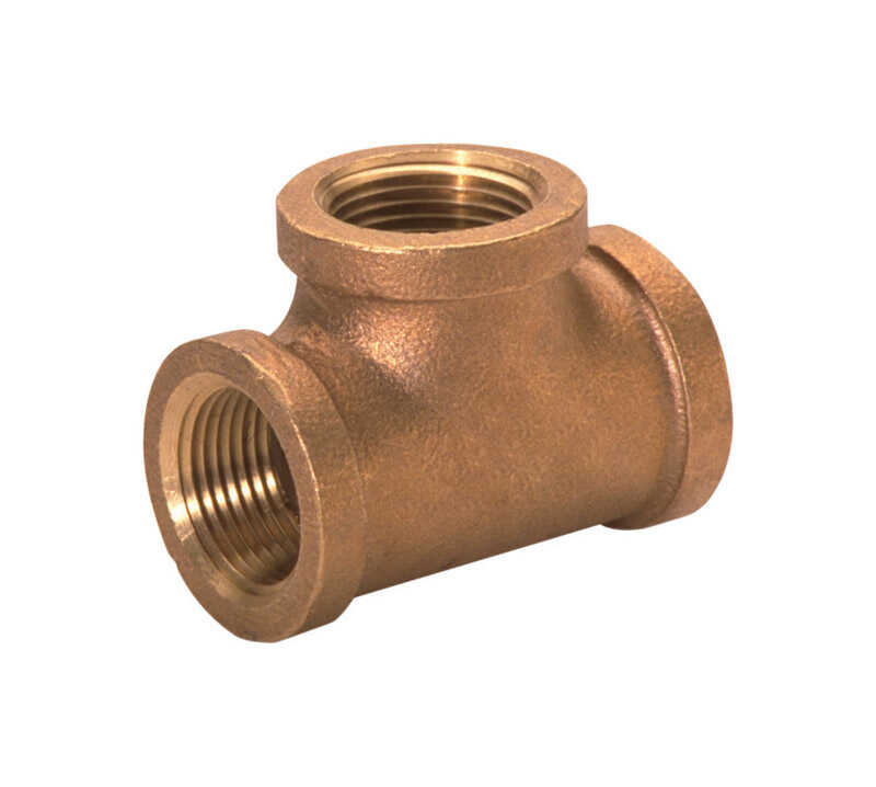 JMF  3/4 in. Dia. x 3/4 in. Dia. x 3/4 in. Dia. FPT To FPT To FPT  Red Brass  Tee