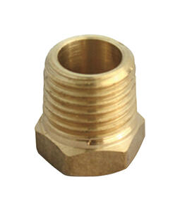 JMF  1 in. MPT   x 1/4 in. Dia. FPT  Yellow Brass  Hex Bushing