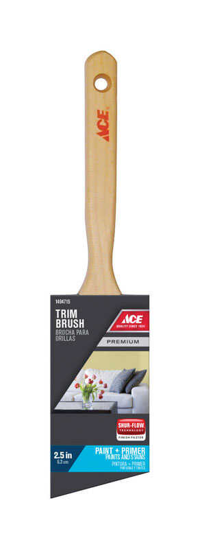 Ace  Premium  2-1/2 in. W Medium Stiff  Angle  Polyester  Paint Brush