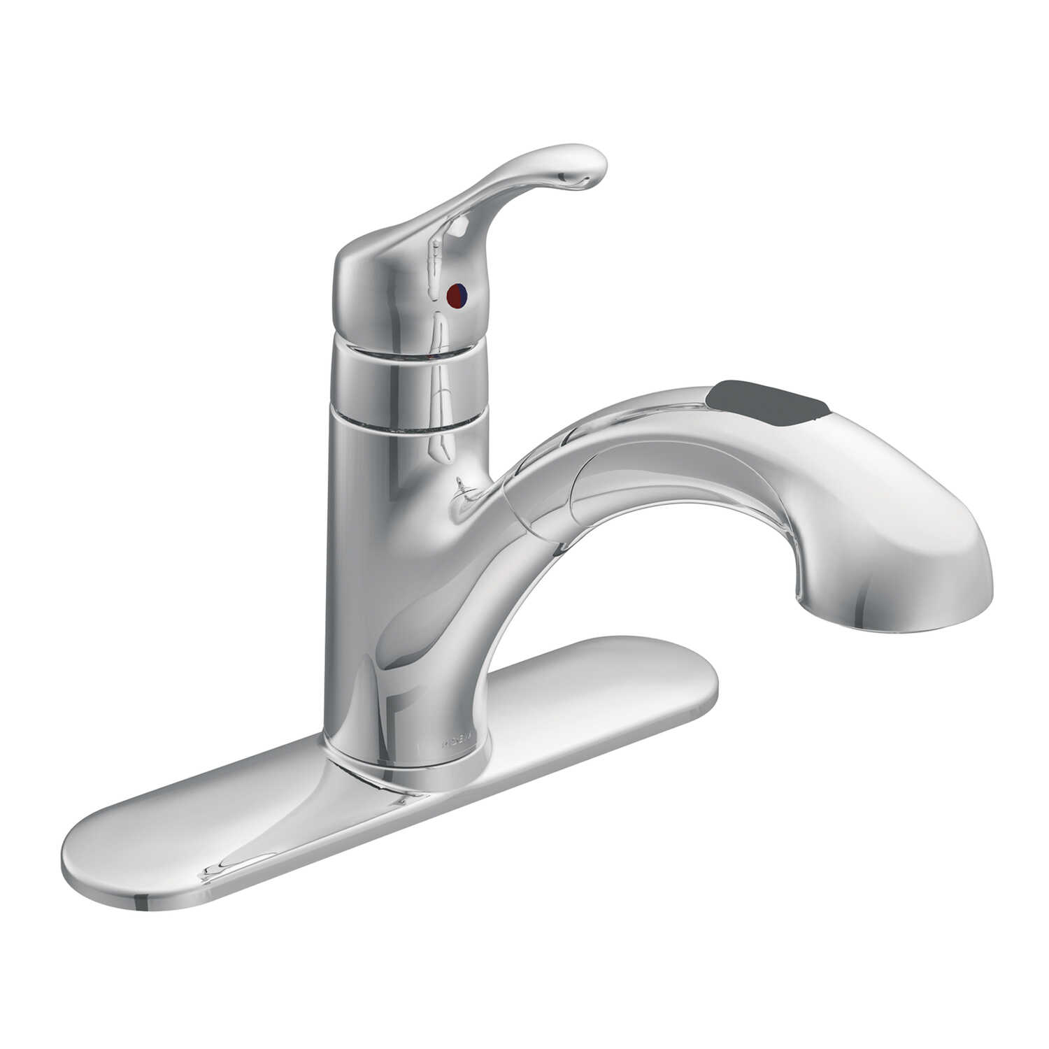 Moen Renzo One Handle Chrome Pull Out Kitchen Faucet - Ace ...