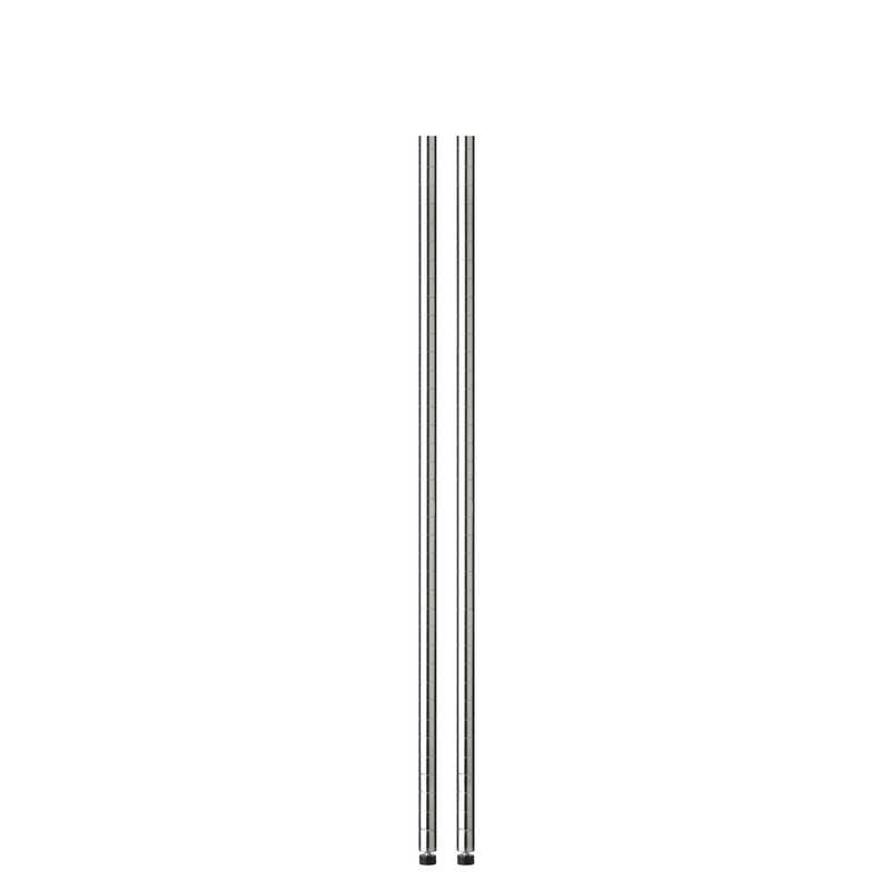 Honey Can Do  54 in. H x 1 in. W x 1 in. D Steel  Shelf Pole with Leg Levelers  Silver