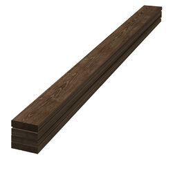 UFP-Edge  1 in. H x 4 in. W x 96 in. L Rustic  Dark Brown  Wood  Trim boards