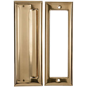 Ace Mail Slot 7 in. x 1.5 in. Solid Brass