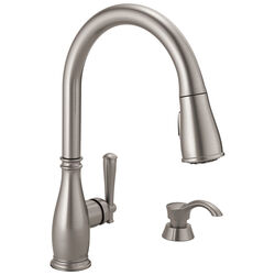 Delta Charmaine One Handle Stainless Steel Kitchen Faucet