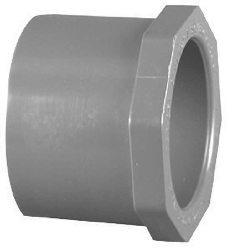 Charlotte Pipe  Schedule 80  2 in. Spigot   x 1-1/2 in. Dia. Slip  PVC  Reducing Bushing