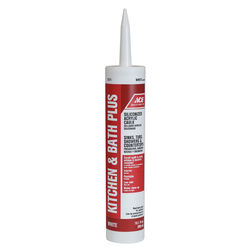 Ace  White  Siliconized Acrylic  Kitchen and Bath  Adhesive Caulk  10.1 oz.