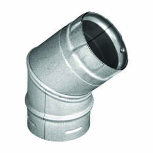 DuraVent  3 in. Dia. x 3 in. Dia. 45 deg. Galvanized Steel/Stainless Steel  Stove Pipe Elbow