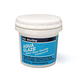 Sterling  Aqua Glaze  Flat  White  Glazing Compound  0.5 pt.