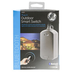GE  Bluetooth  Outdoor Smart Switch  Black  1 pk