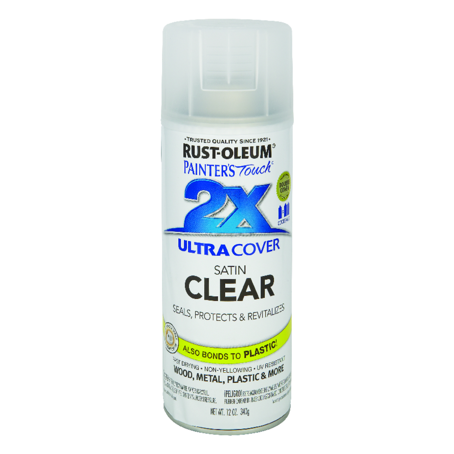 Rust-Oleum  Painter's Touch Ultra Cover  Satin  Clear  12 oz. Spray Paint