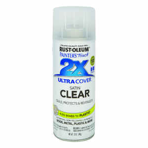 Rust-Oleum  Painter's Touch Ultra Cover  Satin  Clear  Spray Paint  12 oz.