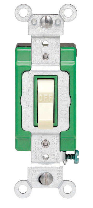 Leviton  Industrial  30 amps Toggle  Switch  Ivory  1 pk