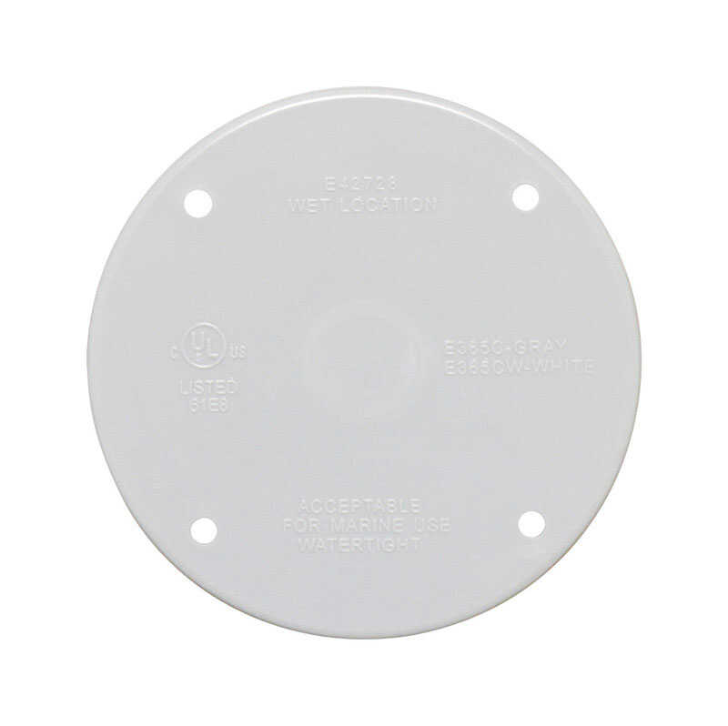 Sigma  Round  Plastic  Blank Box Cover  For Closure of Unused Box Outlets