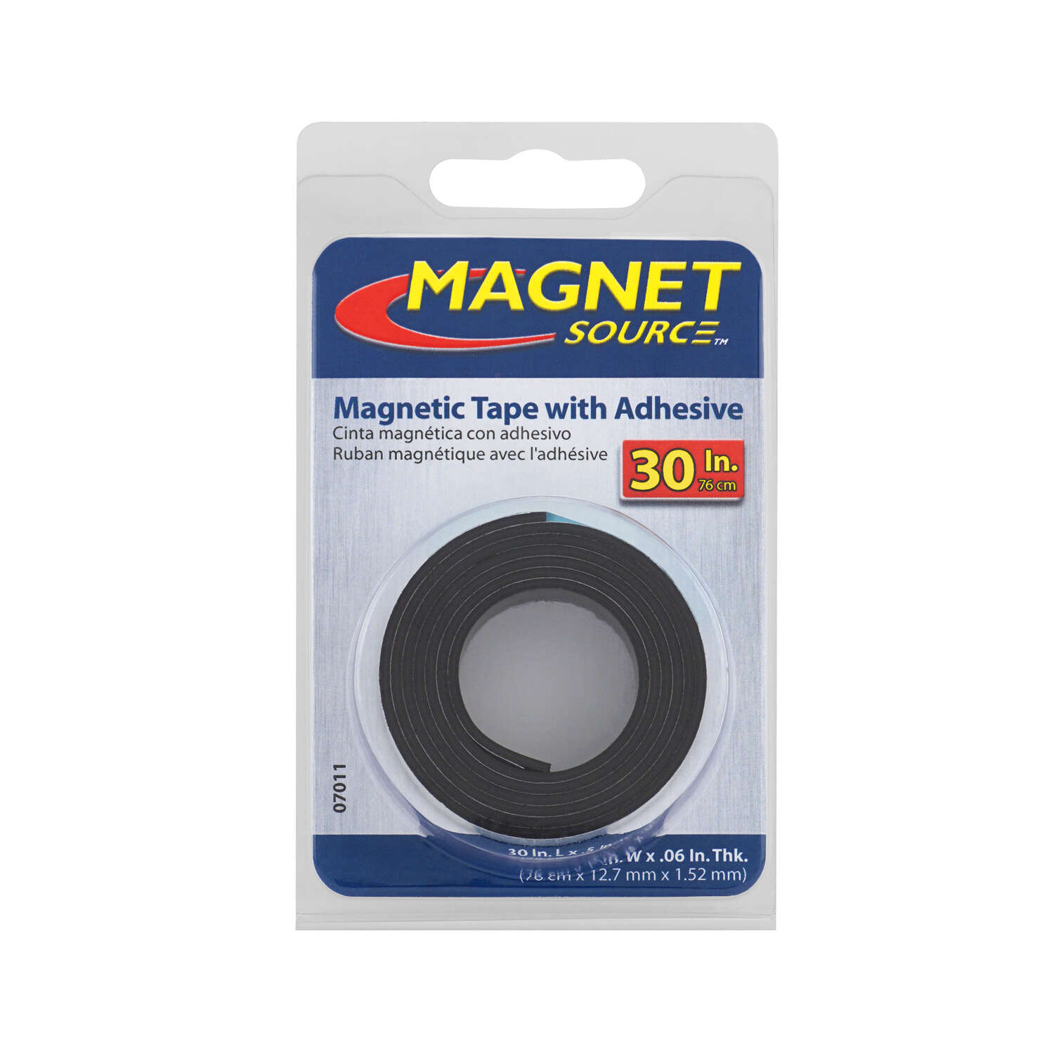 Master Magnetics  The Magnet Source  30  Ferrite Powder/Rubber Polymer Resin  Strip  0.6 MGOe Black