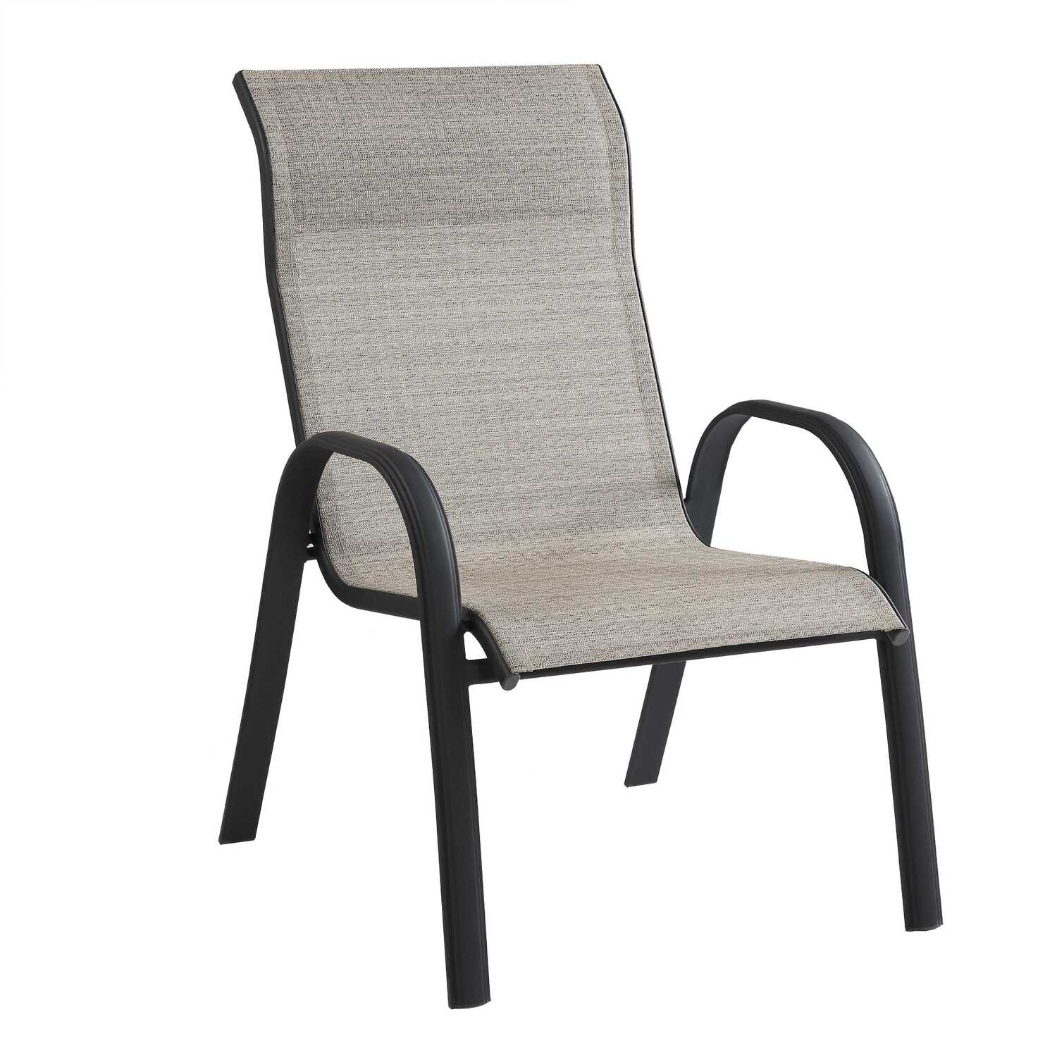 Living Accents  Black  Steel  Kensington  Stackable Chair