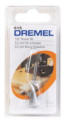 Dremel 1/8 in. Dia. x 1/8 in. x 2-3/4 in. L High Speed Steel 2-Flute Corner Rounding Router Bit