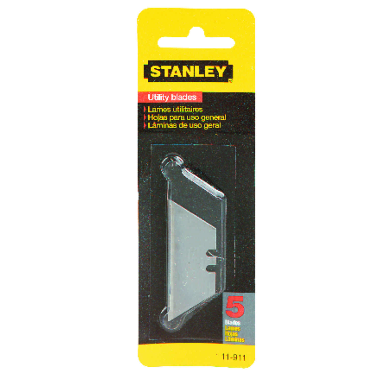 Stanley  2-7/16 in. L x 0.017 in.  Steel  Regular Duty  Replacement Blade  5 pk