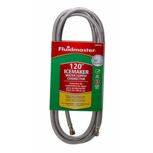 Fluidmaster  1/4 in. Compression   x 1/4 in. Dia. Compression  120 in. Stainless Steel  Supply Line