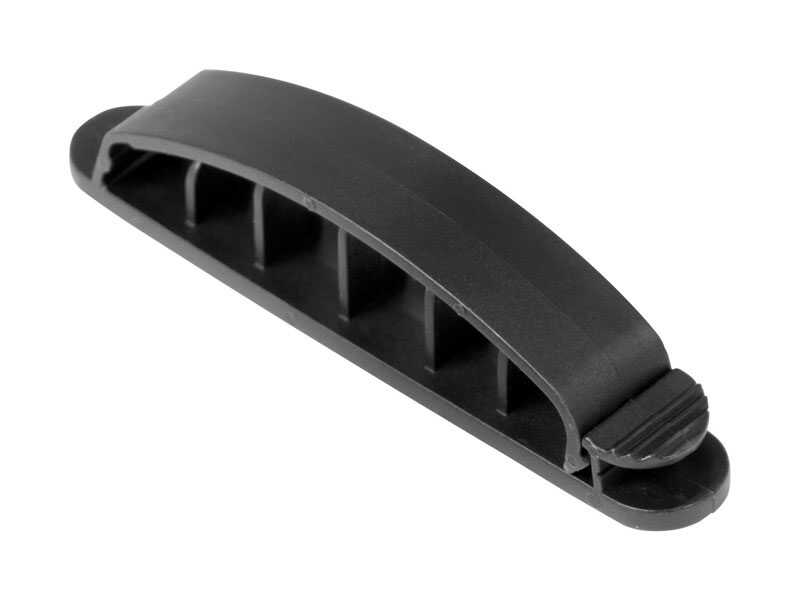 Gardner Bender  3.88 in. L Black  Plastic  Cable Management Clip