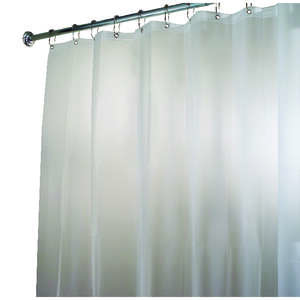 InterDesign  72 in. H x 84 in. W Frosted  Shower Curtain Liner  Eva