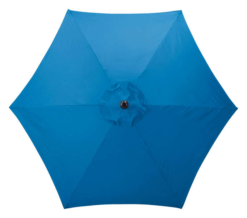 Living Accents  MARKET  9 ft. Tiltable Royal Blue  Patio Umbrella