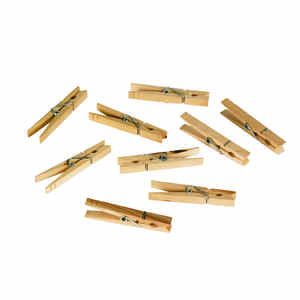 Homz  0 in. L Natural  Wood  Clothes Pins
