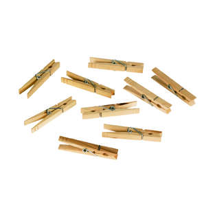 Homz  Natural Wood  Clothes Pins  Wood