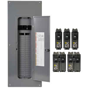 Square D  HomeLine  200 amps 120/240 volt 40 space 80 circuits Wall Mount  Main Breaker Load Center