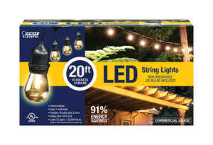 FEIT Electric  LED  LED Lantern  LED Light String  20 ft. 10 lights Clear  Clear