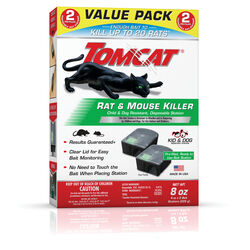 Tomcat  Toxic  Bait Station  Blocks  For Mice and Rats 2 pk