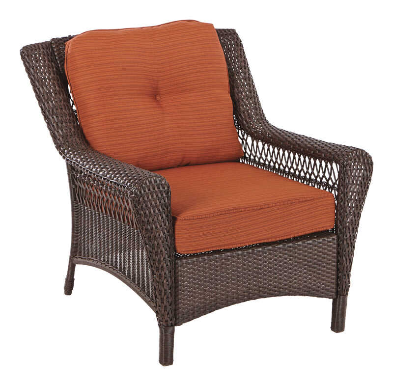 Living Accents  Brown  Wicker  Chair